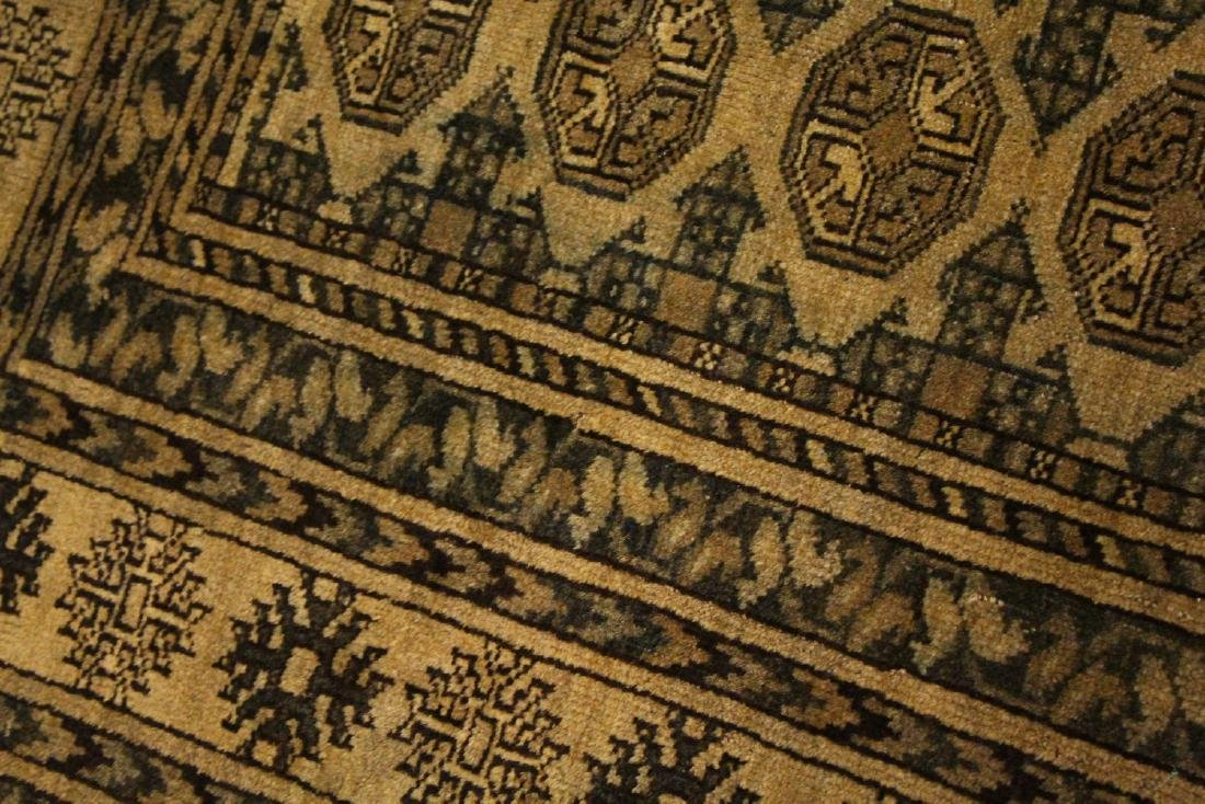 A BOKHARA RUG, beige ground with three rows of ten - 7
