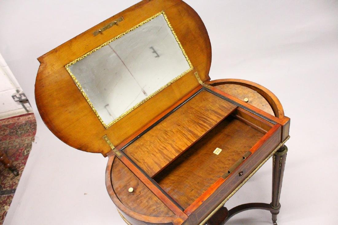 A 19TH CENTURY FRENCH KINGWOOD AND MARQUETRY INLAID - 5