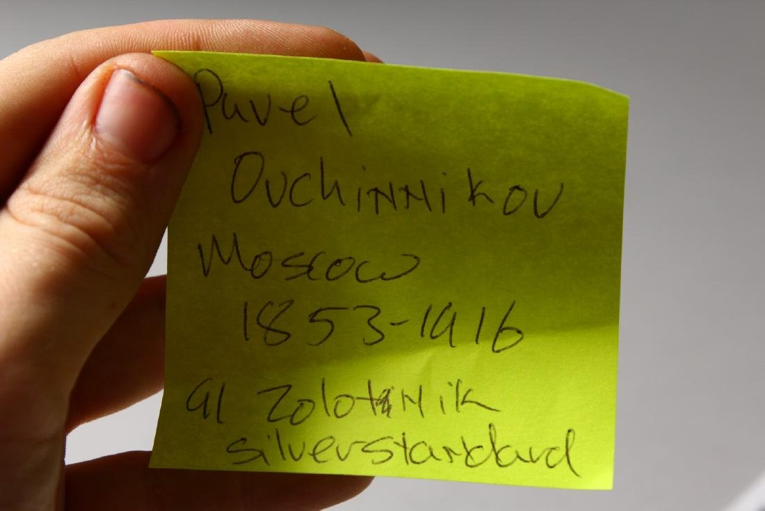 A RUSSIAN SILVER AND ENAMEL CIGARETTE CASE.  4.75ins x - 9