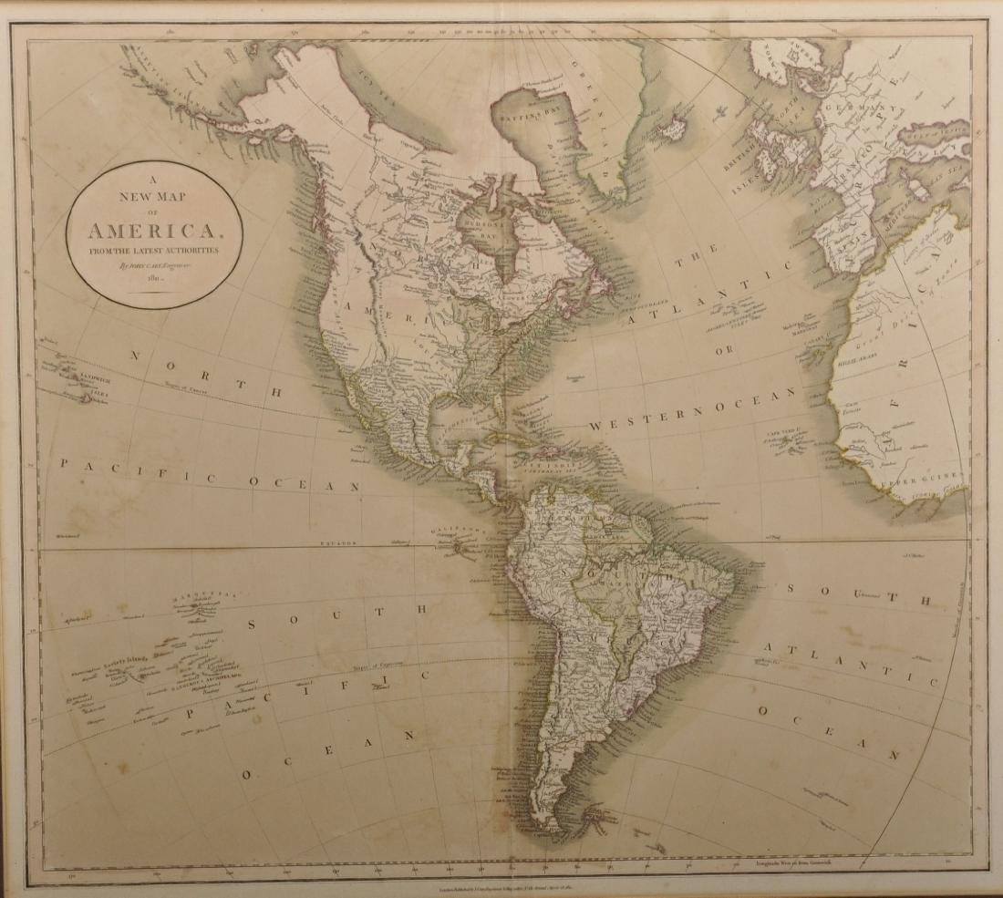 John Cary (1754-1835) British. A New Map of America,