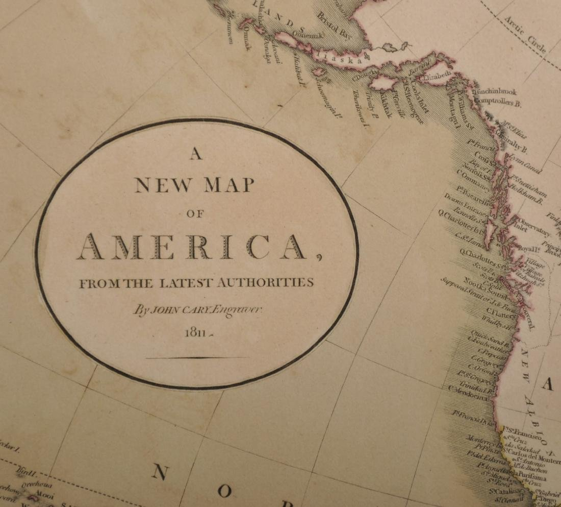 John Cary (1754-1835) British. A New Map of America, - 3