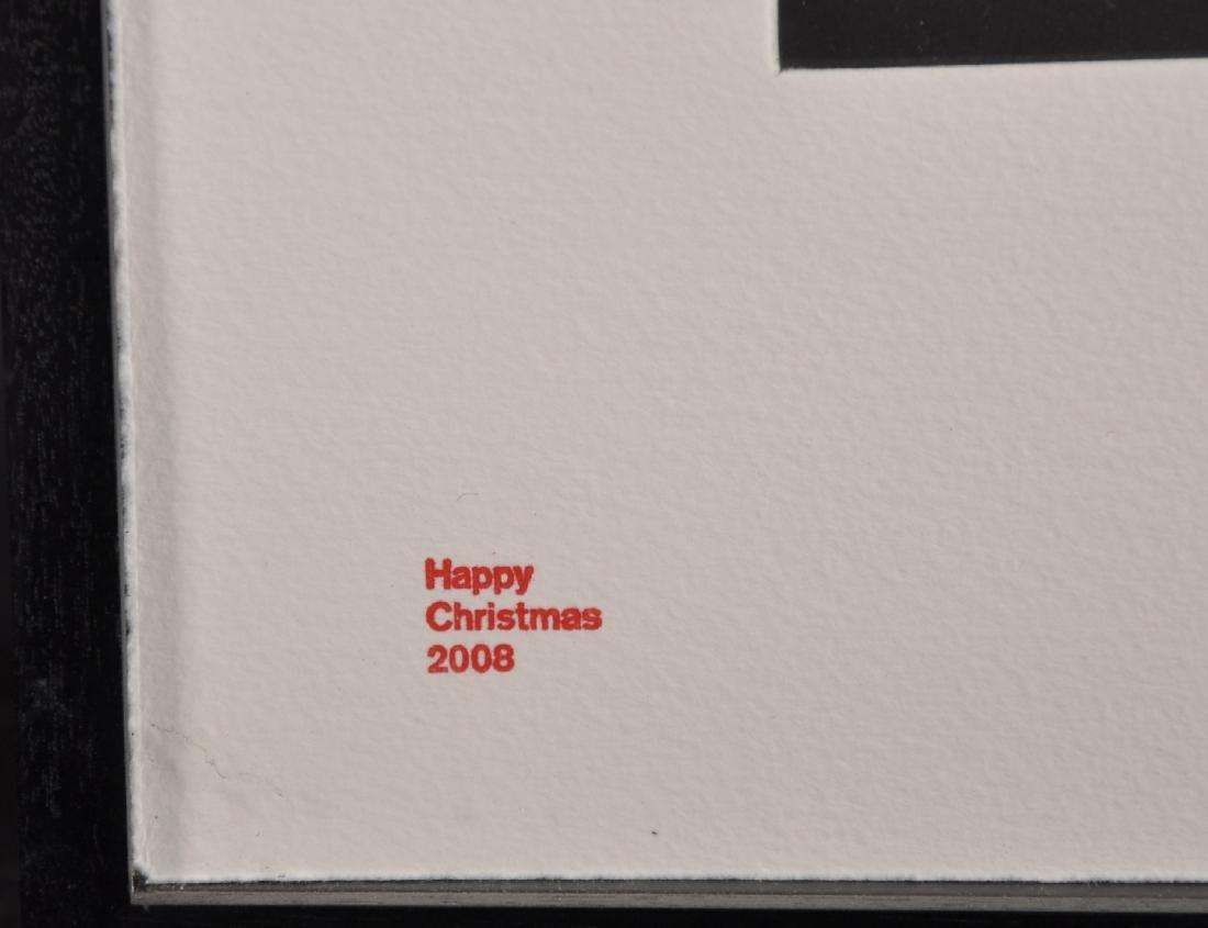 "Damien Hirst (1965-   ) British. ""Happy Christmas - 3"