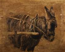 Early 20th Century English School Study of a Donkey