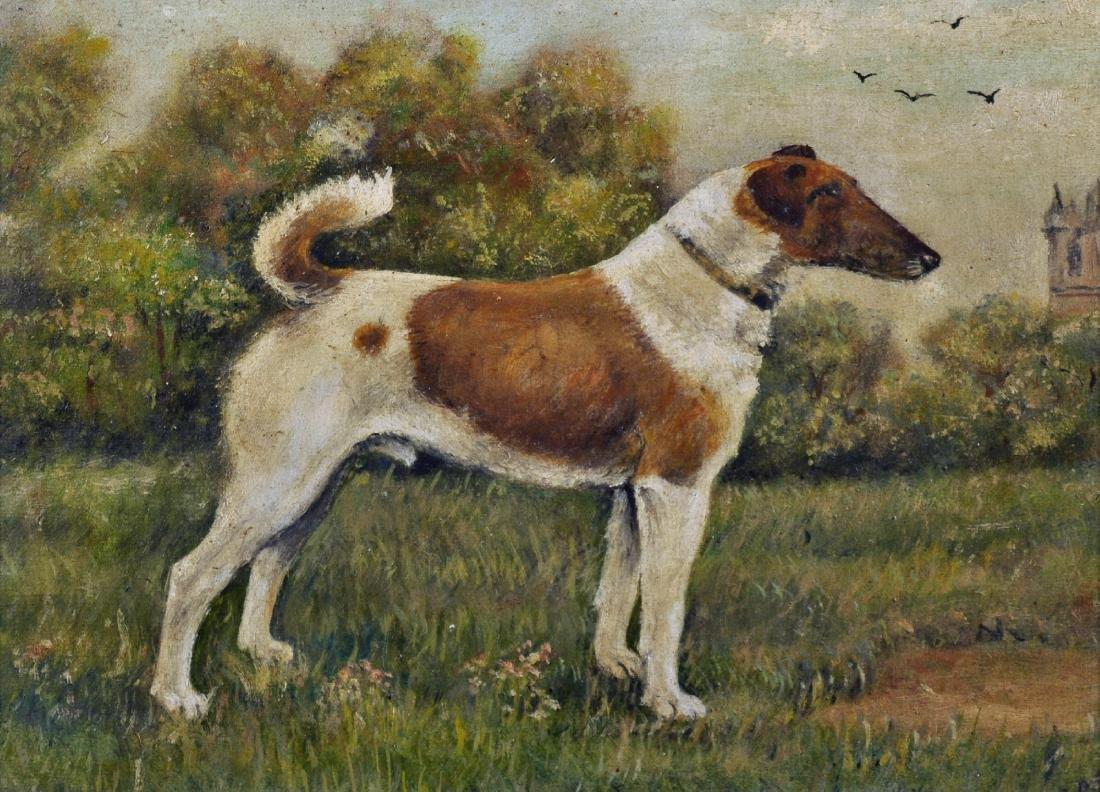 Early 20th Century English School. A Fox Terrier, Oil