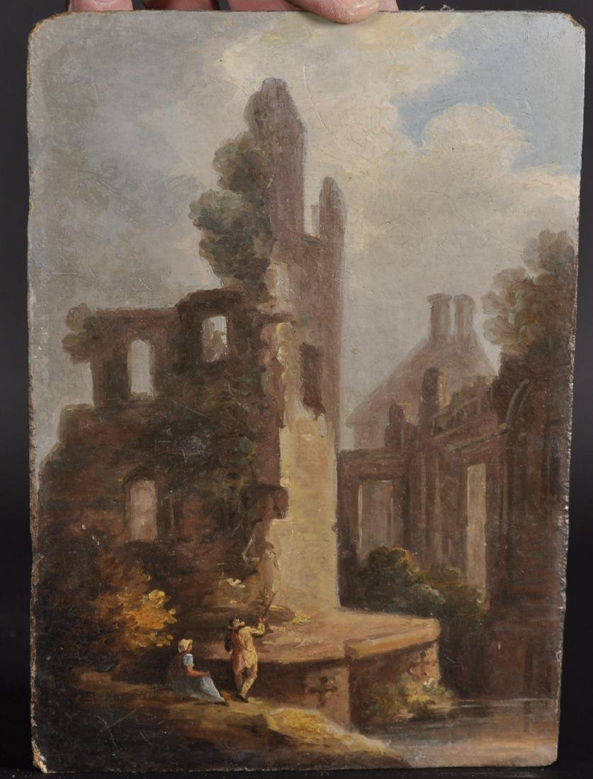 Early 19th Century English School. Figures by Ruins, - 2