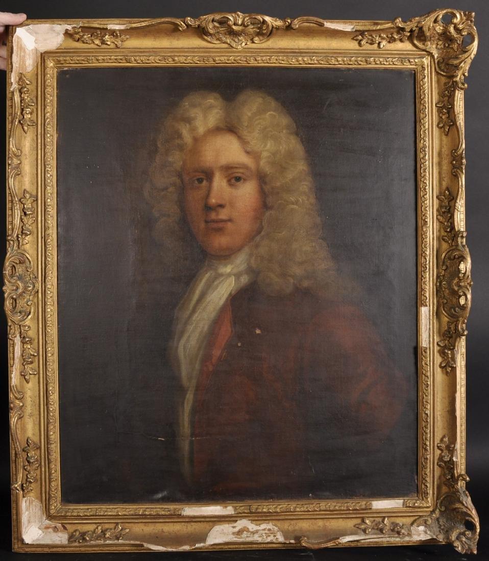 18th Century English School. Bust Portrait of a Wigged - 2