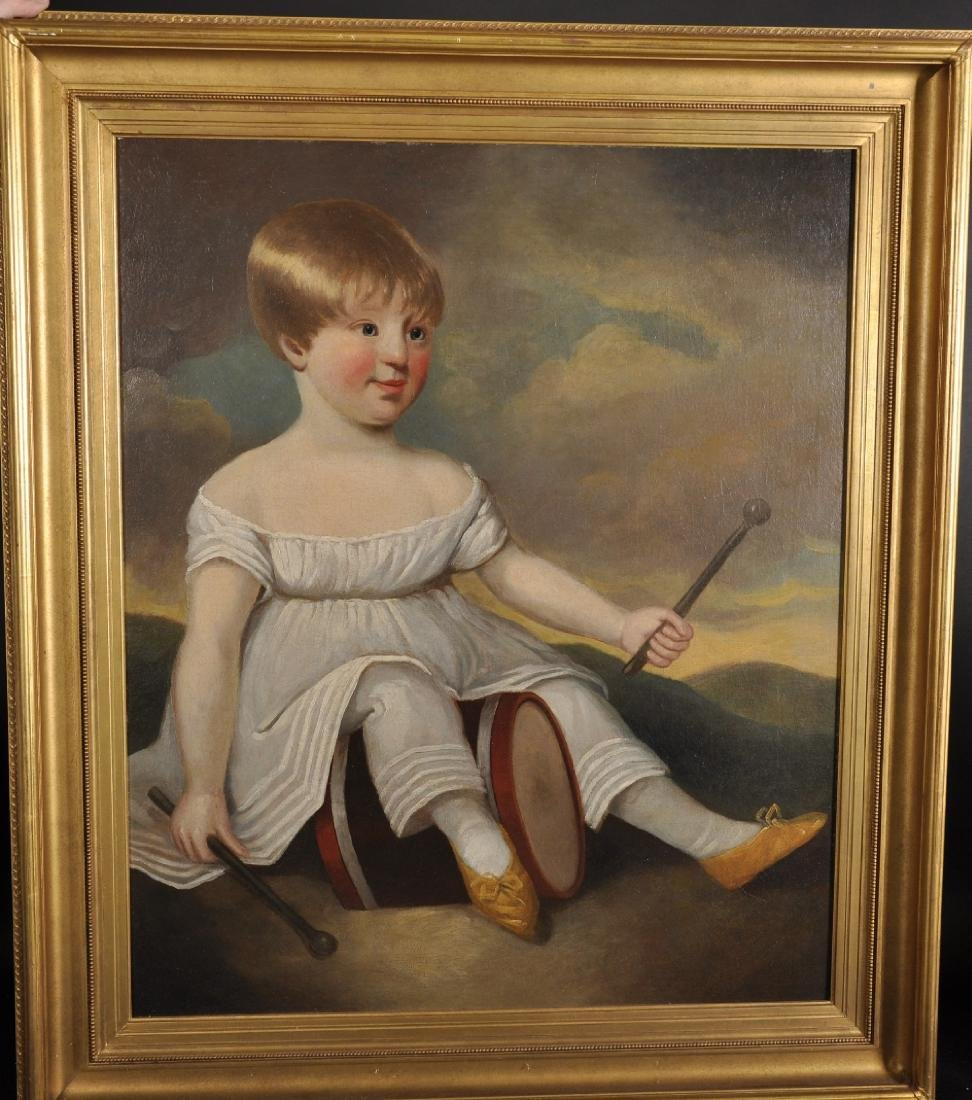 Early 19th Century American School. A Young Child with - 2