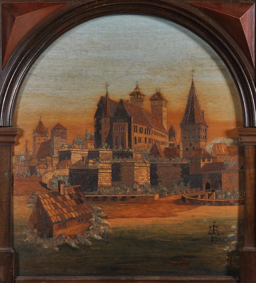 19th Century Dutch School. A Continental Town Scene,
