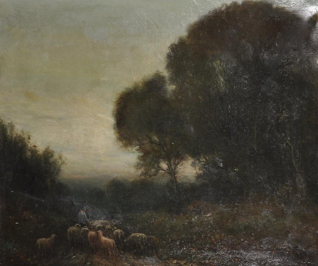 19th Century Dutch School. A Shepherd and Flock, in a