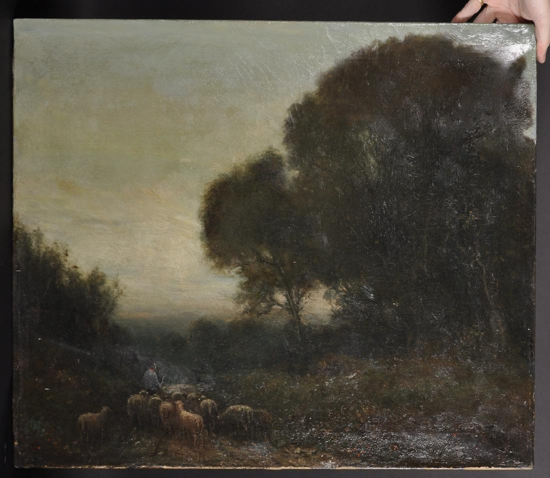 19th Century Dutch School. A Shepherd and Flock, in a - 2