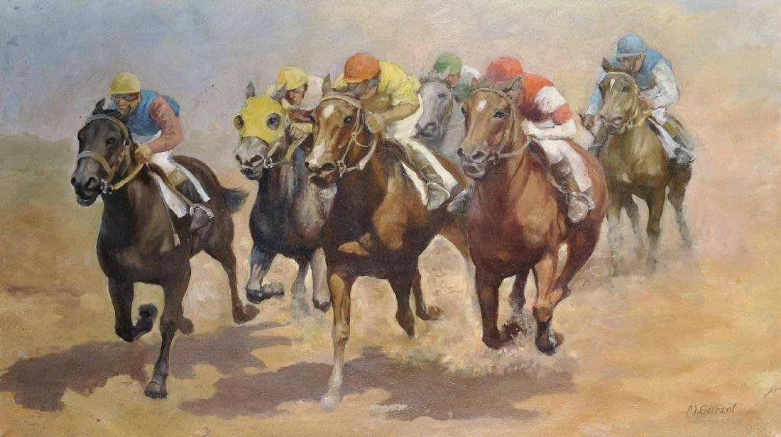 20th Century South American School. A Horse Racing