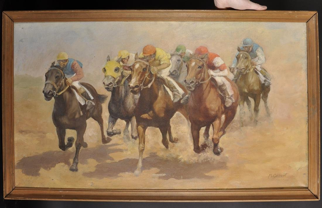 20th Century South American School. A Horse Racing - 2