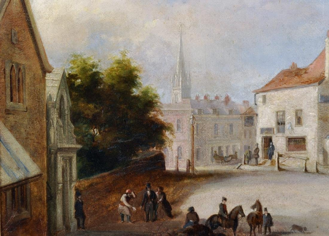 19th Century English School. A Street Scene with