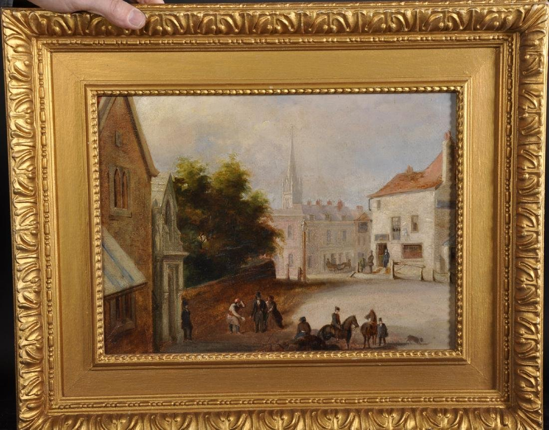 19th Century English School. A Street Scene with - 2