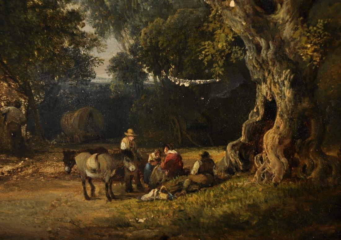19th Century English School. Figures and Donkeys - 3