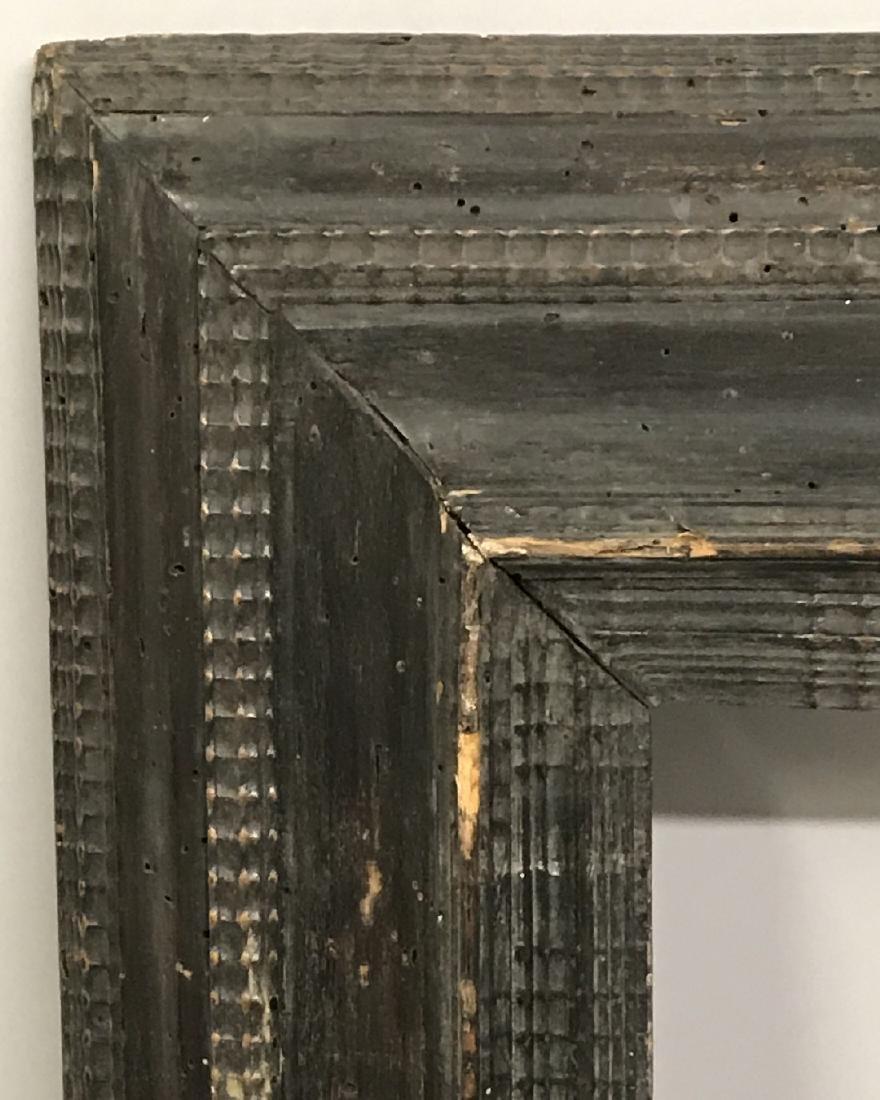 """18th Century Dutch School. A Black Ribbed Frame, 13"""" x"""