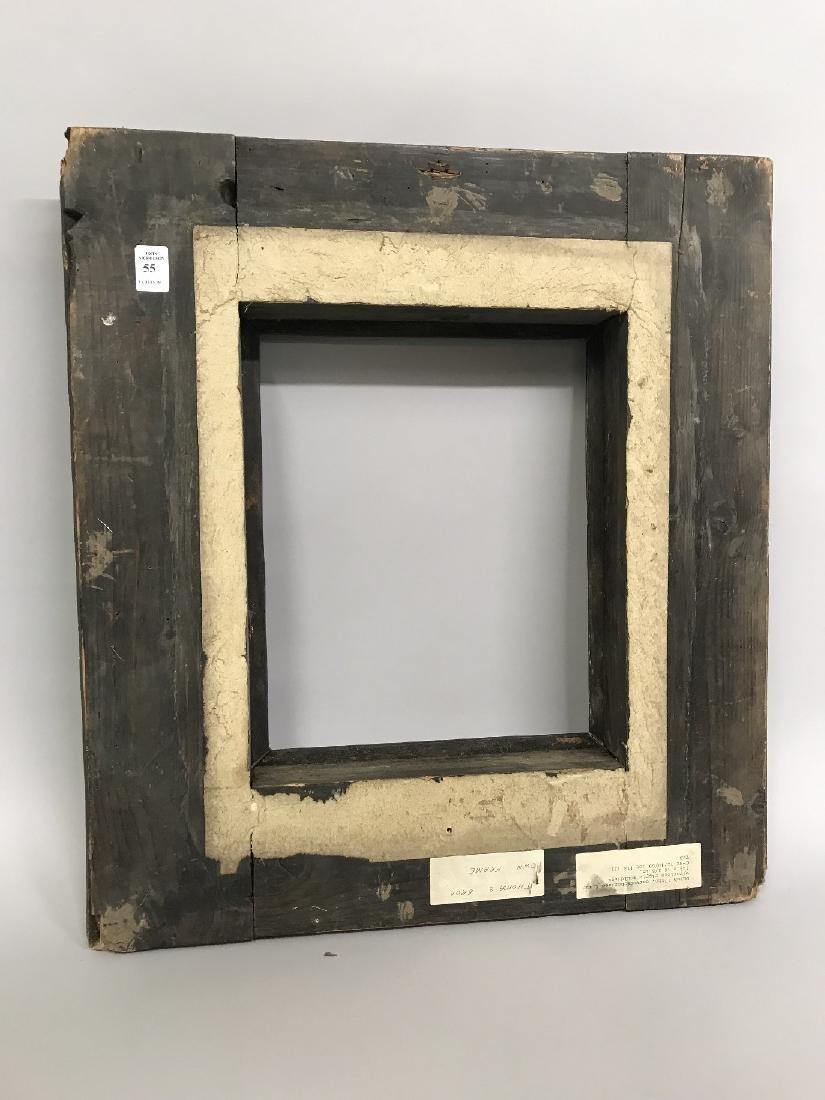 """18th Century Dutch School. A Black Ribbed Frame, 13"""" x - 3"""