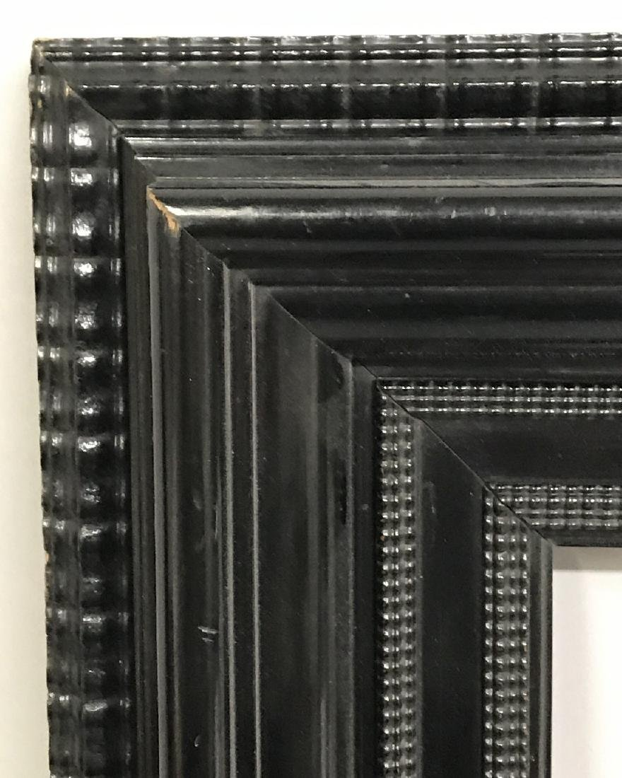 20th Century Dutch School. A Black Lacquered Frame,
