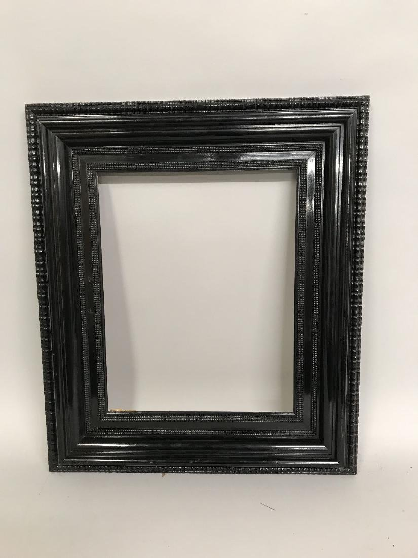 20th Century Dutch School. A Black Lacquered Frame, - 2