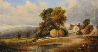 19th Century English School. A River Landscape, with a