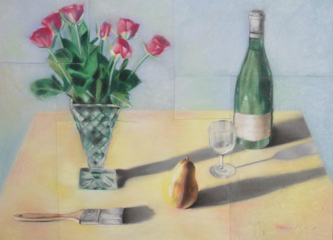 Jack Miller (1945-2004) British. Still Life with Red