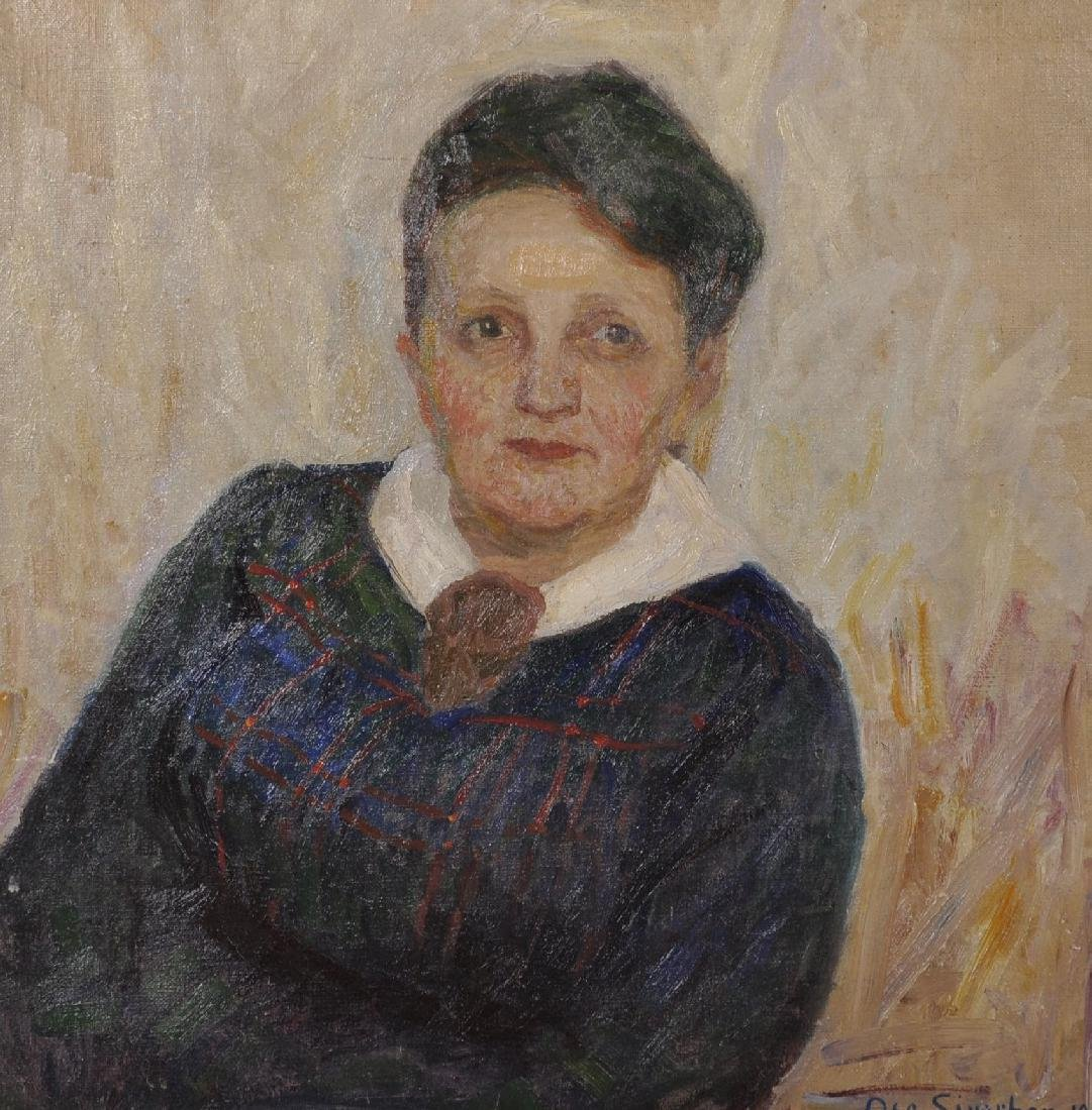 Oscar Sivertsen (1876-1940) Norwegian. Portrait of an
