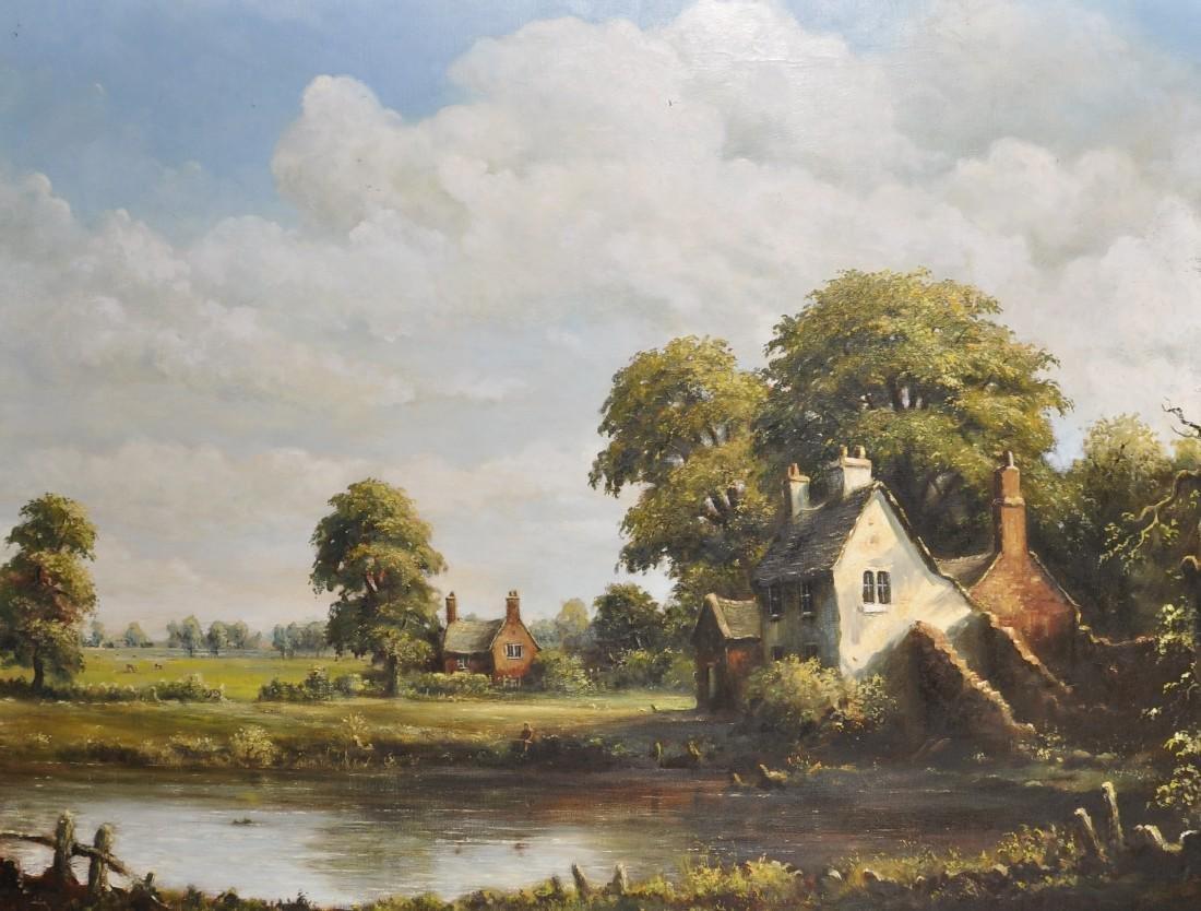 James Preston (20th Century) British. A River Landscape