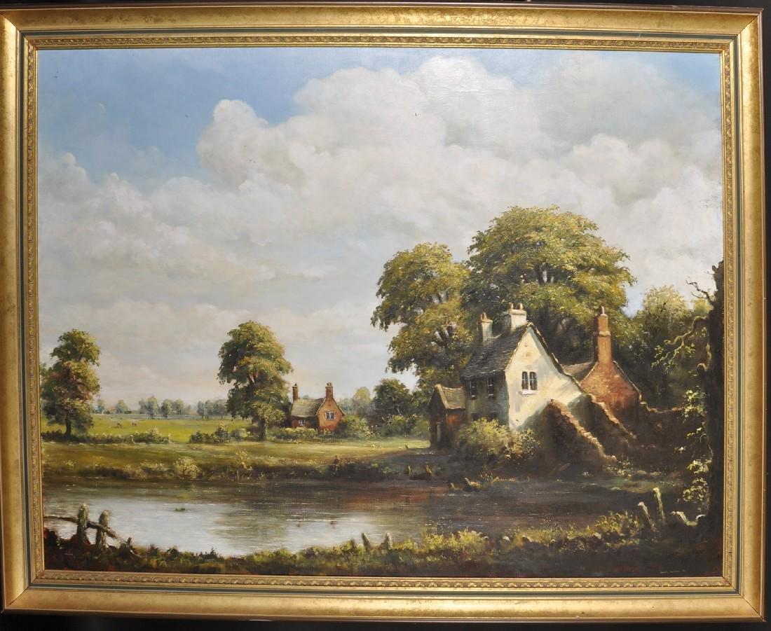James Preston (20th Century) British. A River Landscape - 2