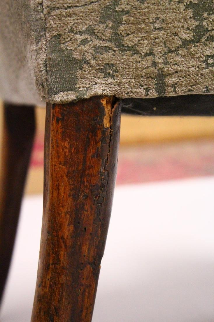 A GEORGE II / III WALNUT WING ARMCHAIR, with a veneered - 7