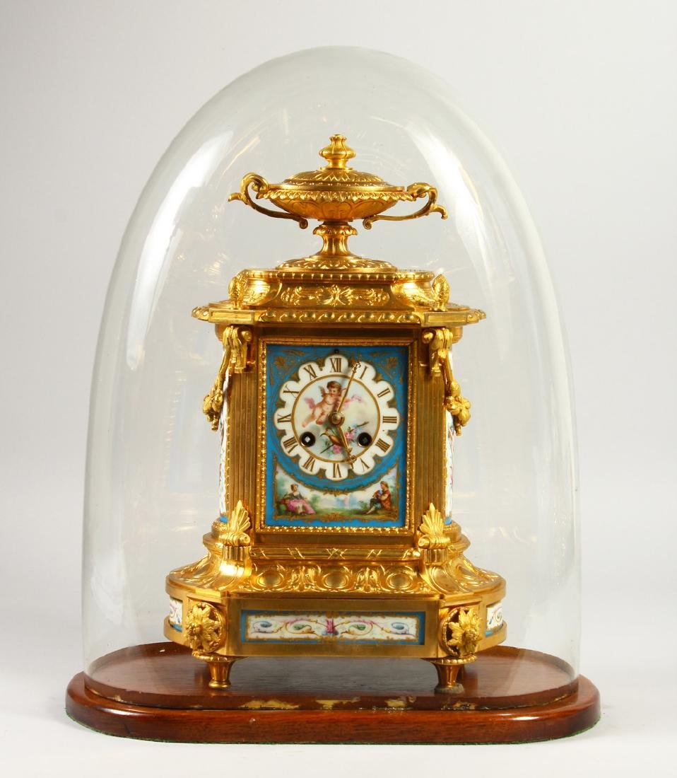 A VERY GOOD 19TH CENTURY FRENCH ORMOLU AND SEVRES