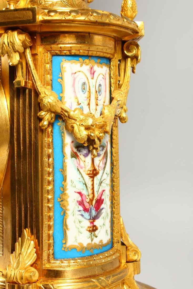 A VERY GOOD 19TH CENTURY FRENCH ORMOLU AND SEVRES - 5