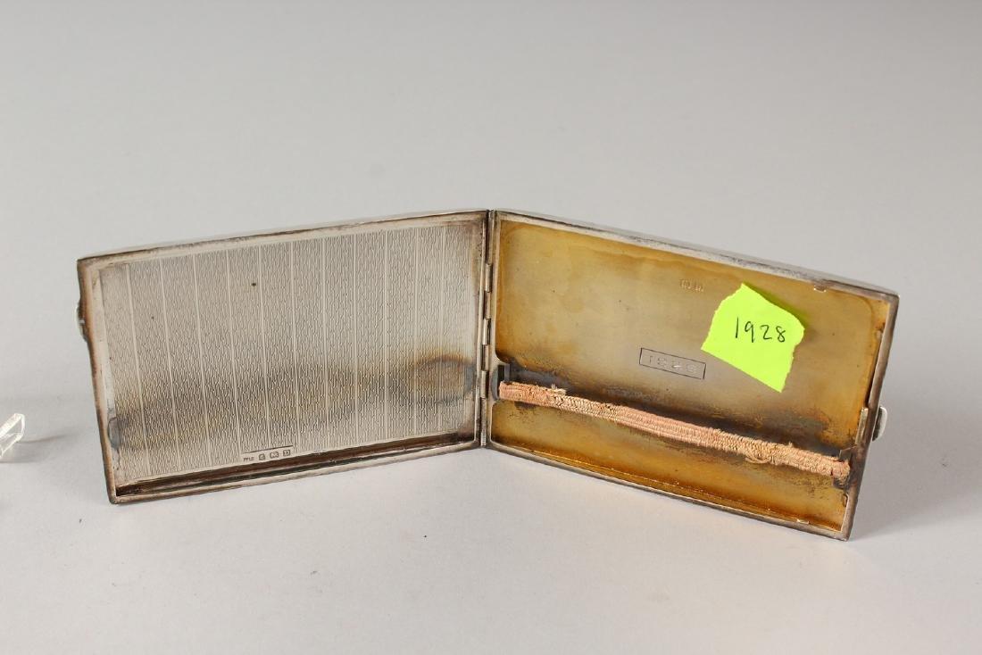 AN ENGINE TURNED SILVER CIGARETTE CASE, Birmingham - 5