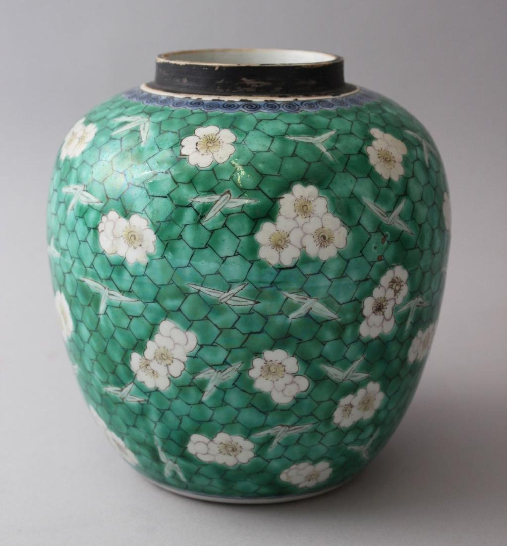 AN 18TH / 19TH CENTURY CHINESE KANGXI STYLE GREEN