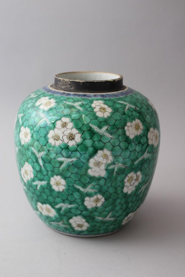 AN 18TH / 19TH CENTURY CHINESE KANGXI STYLE GREEN - 2
