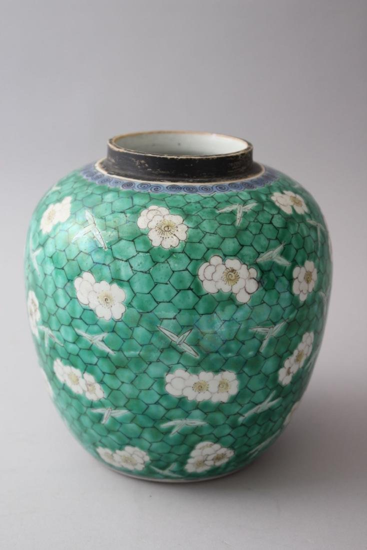 AN 18TH / 19TH CENTURY CHINESE KANGXI STYLE GREEN - 3