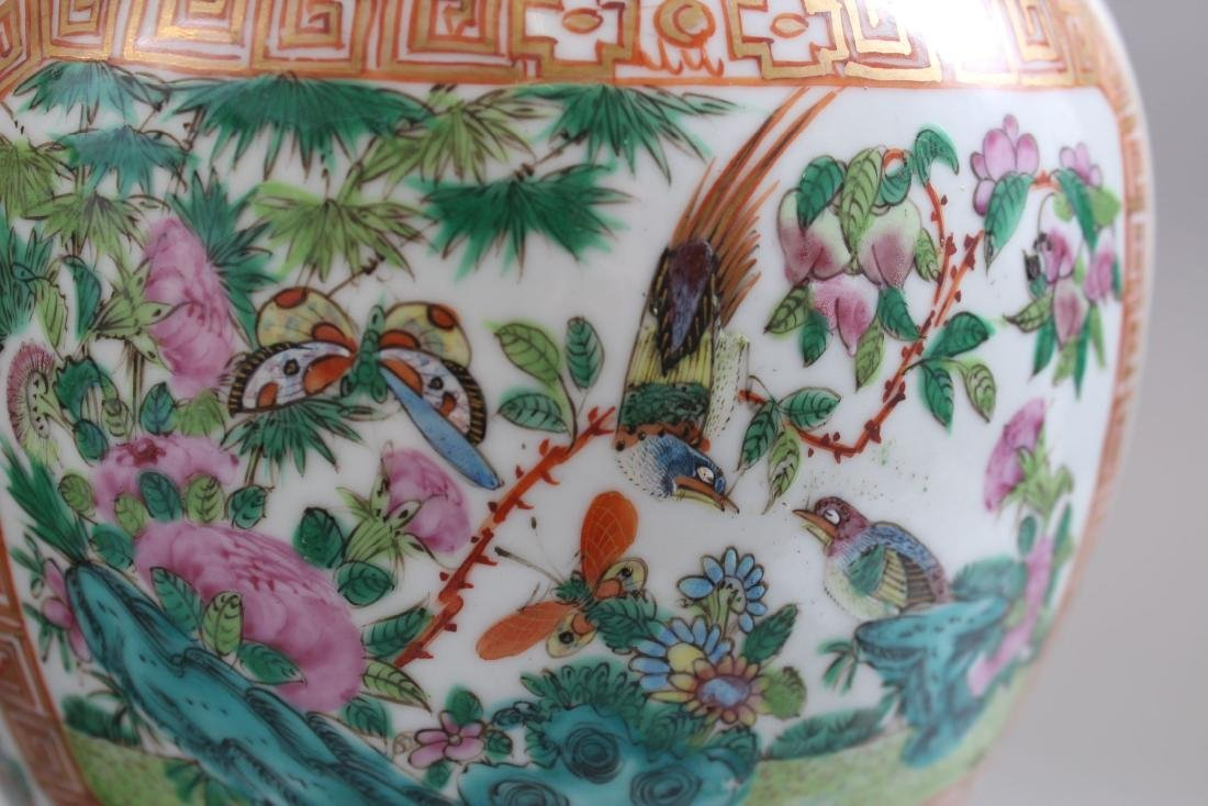 A GOOD PAIR OF 19TH CENTURY CHINESE CANTONESE VASES & - 5