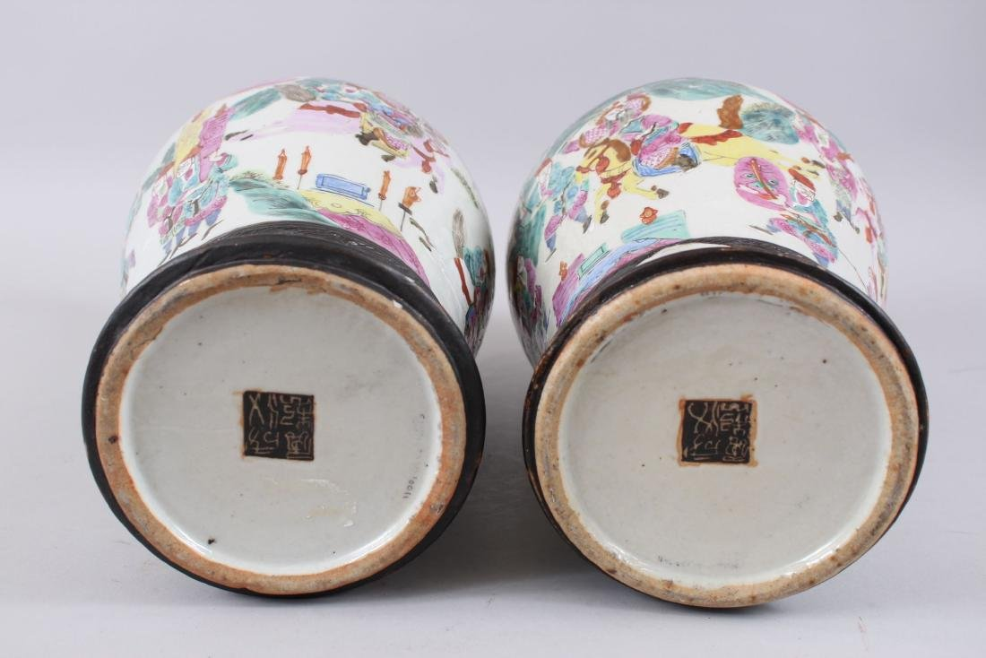 A PAIR OF LATE 19TH CENTURY CHINESE CANTON FAMILLE ROSE - 7