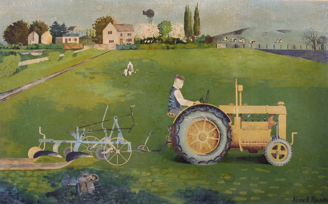 Kenneth Rowntree (1915-1997) British. 'Tractor', Print,