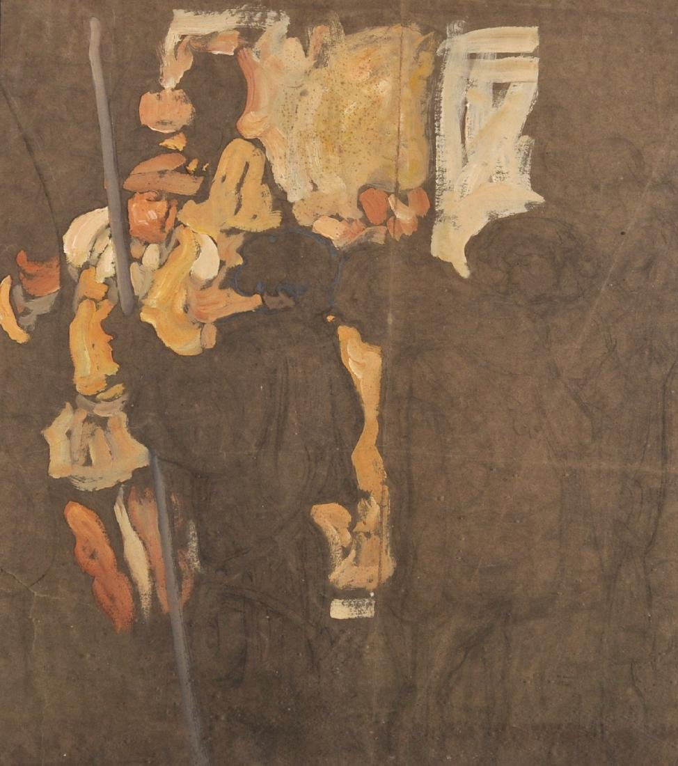 20th Century English School. Study of Figures in a