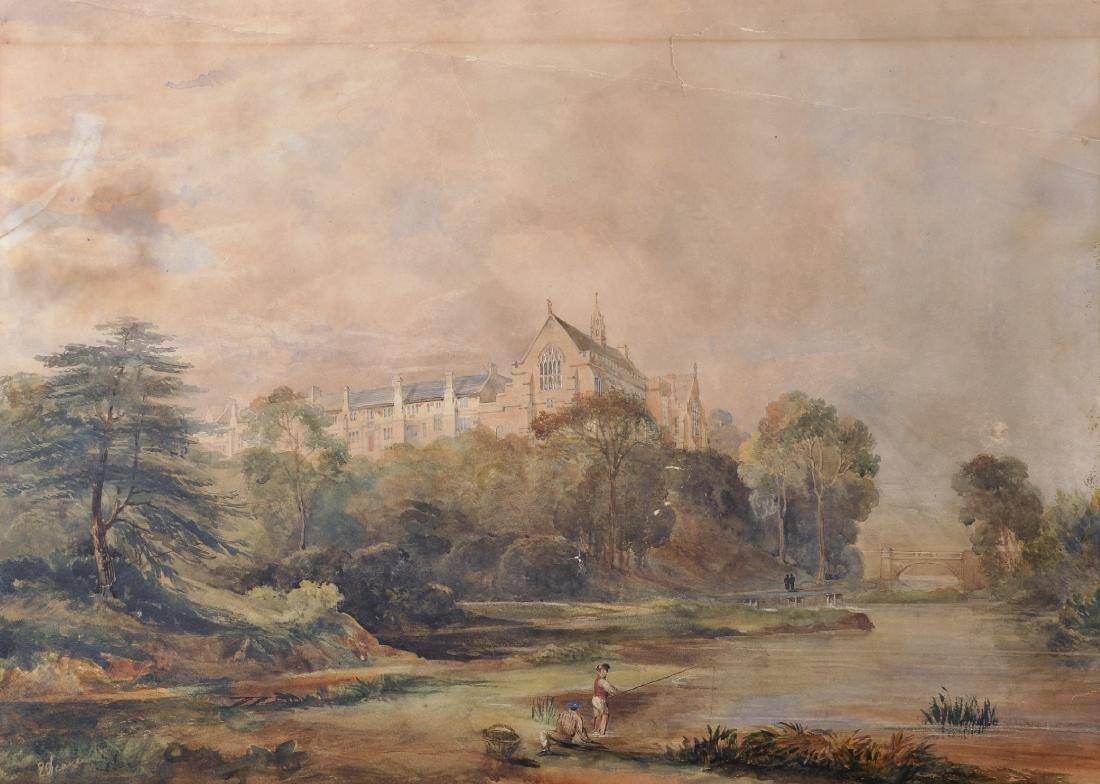 E... Deane (19th Century) British. A River Landscape,