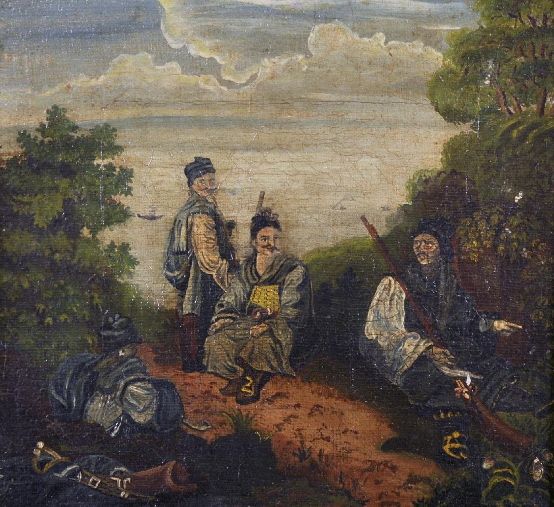 19th Century Mongolian School. Three Natives in a