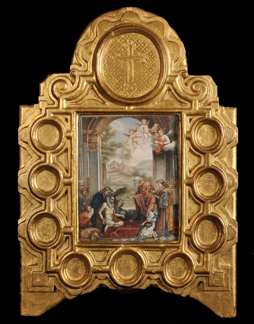 17th Century Italian School. A Religious Scene,
