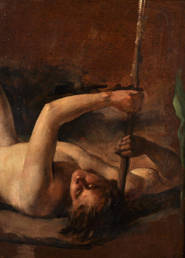 "William Etty (1787-1849) British. ""Nude Study of Man"","