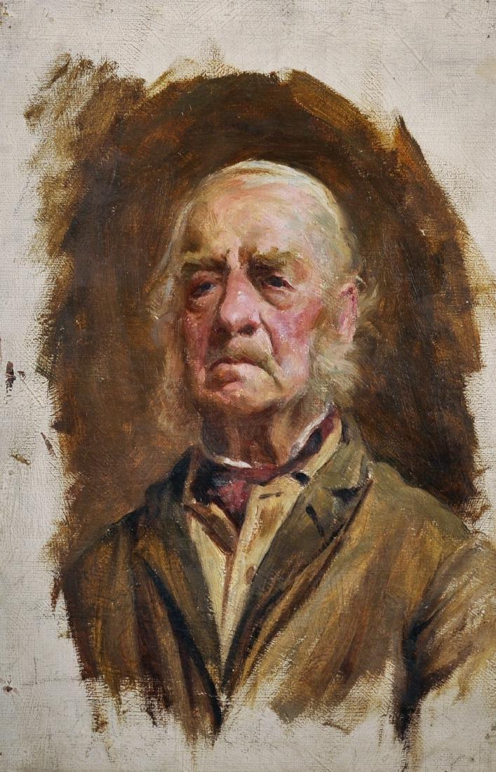 Stanley Ashton (19th- 20th Century) British. Study of