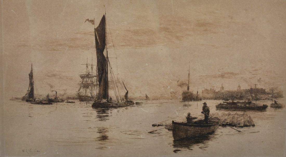 """William Lionel Wyllie (1851-1931) British. """"The River"""