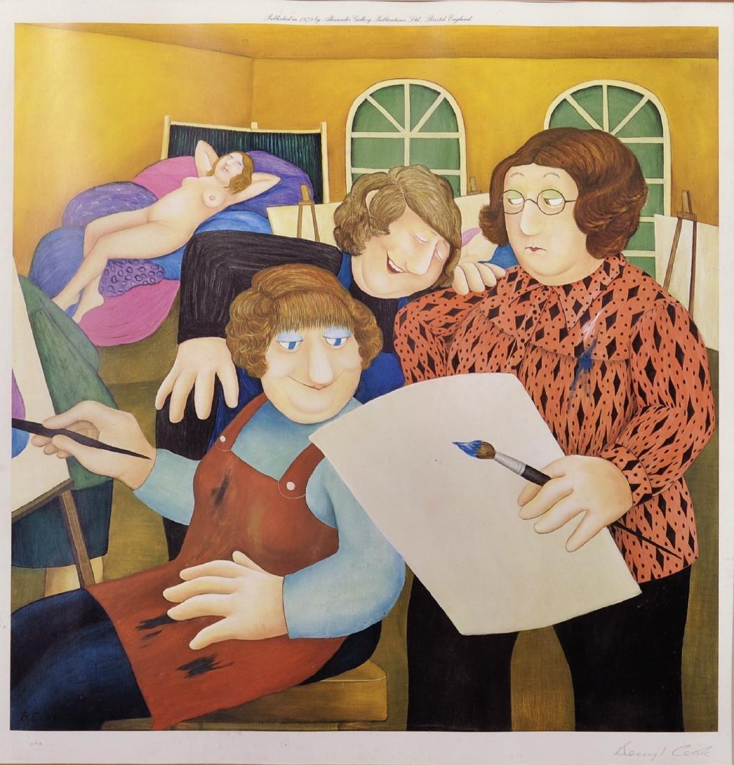 "Beryl Cook (1926-2008) British. ""The Art Class"","