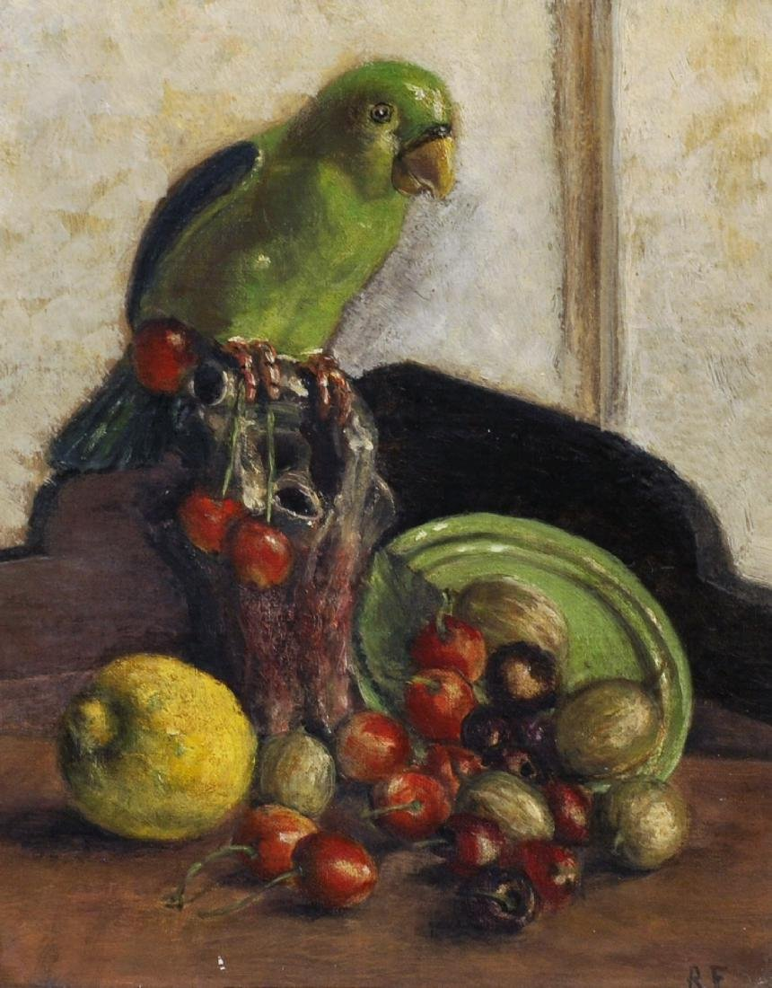 20th Century English School. Still Life of Fruit, with