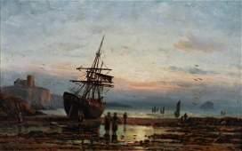 Duncan Fraser McLea (1841-1916) British. A Beach Scene