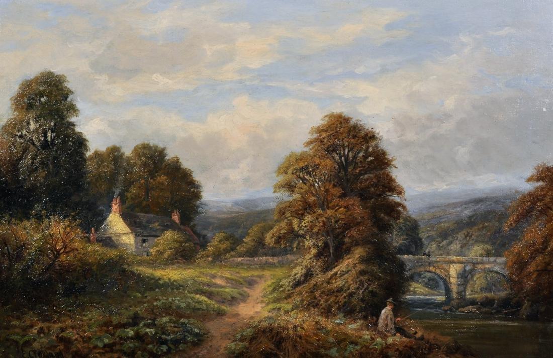 Enoch Crosland (1860-1945) British. A River Landscape,