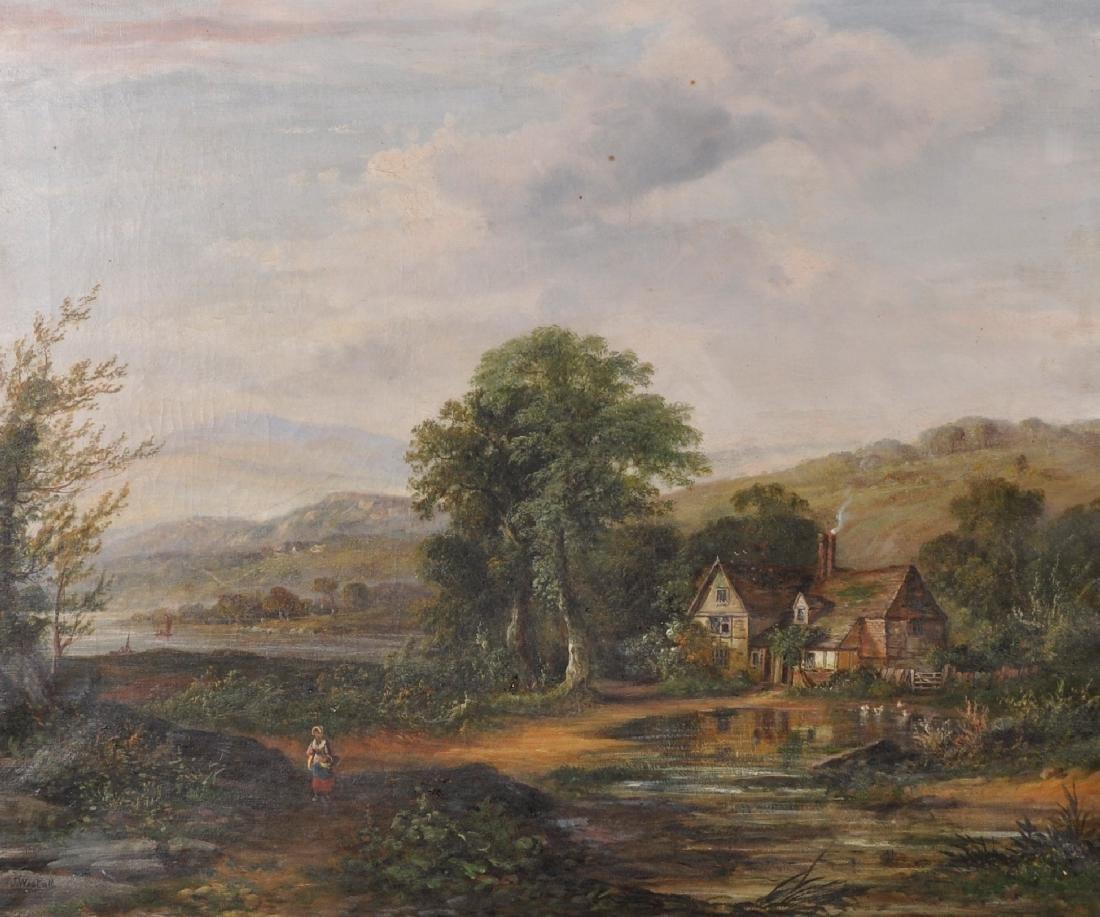 John Westall (act.1873-1893) British. A River